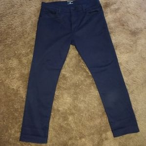 Men's sueded lux 5-pocket slim fit pants.